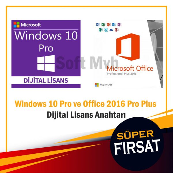 Windows 10 Pro ve Office 2016 Pro Plus Dijital Lisans Anahtarı