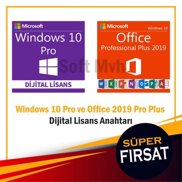 Windows 10 Pro ve Office 2019 Pro Plus Dijital Lisans Anahtarı